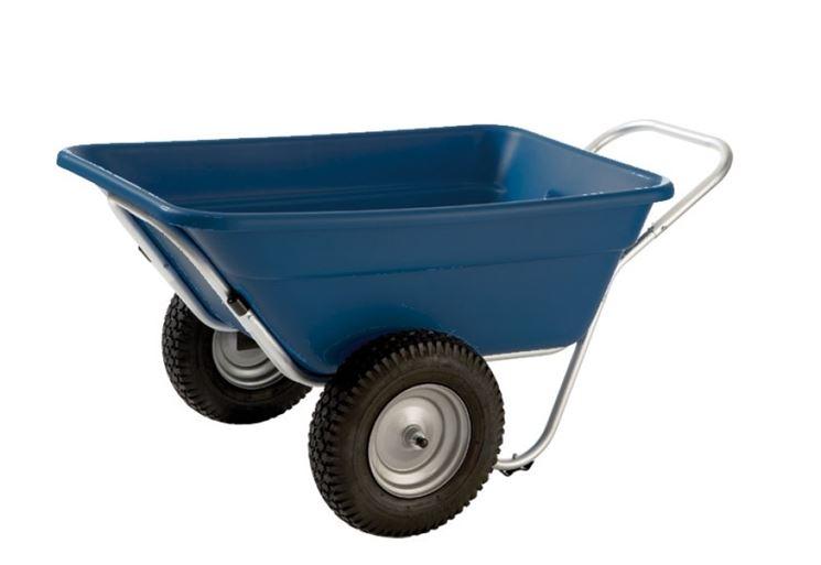 La carriola a due ruote è utile per oggetti voluminosi