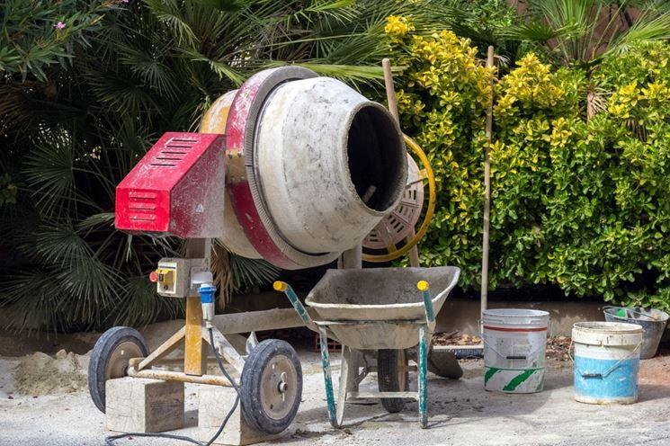 Area di lavoro della betoniera