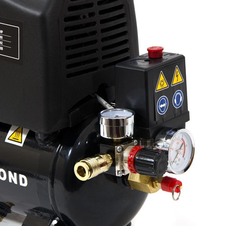 Compressore da 6 litri con regolatore di pressione