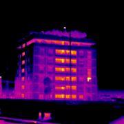 Immagine termografica di un palazzo