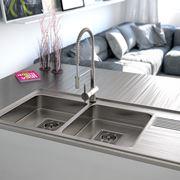 Lavello in acciaio inox doppia vasca