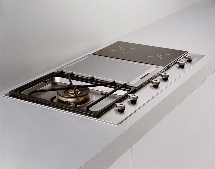 cucina professionale acciaio inox blu