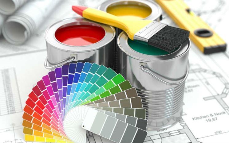 Campioni di pittura per gli interni