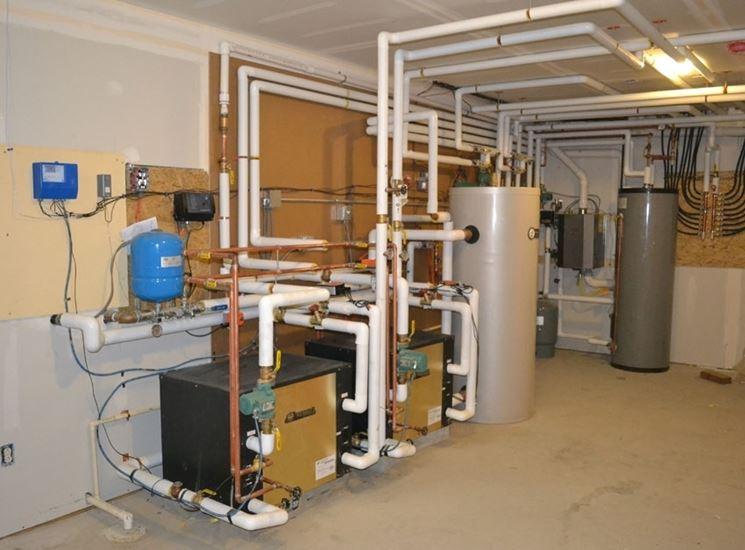 Impianto geotermico per il riscaldamento di un appartamento