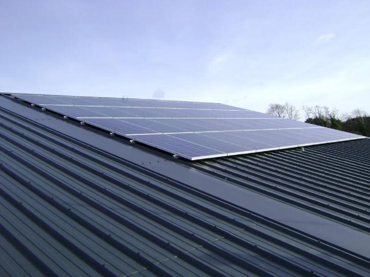 Un impianto fotovoltaico ad uso industriale