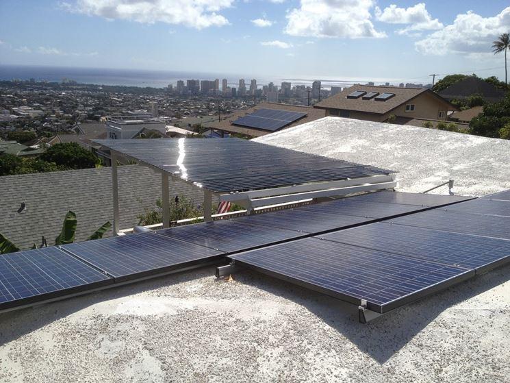 Impianto con pannelli fotovoltaici