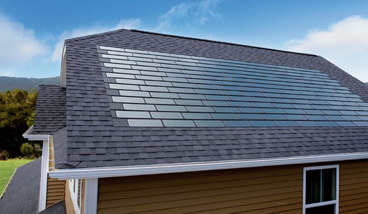 Tegole solari integrate