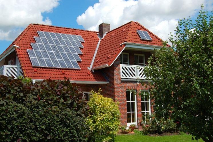 Villa con pannelli solari