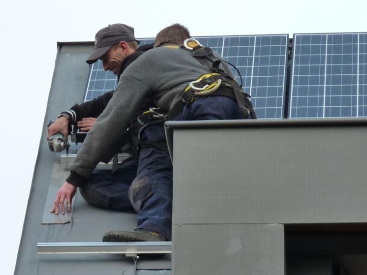 Posa di un impianto fotovoltaico