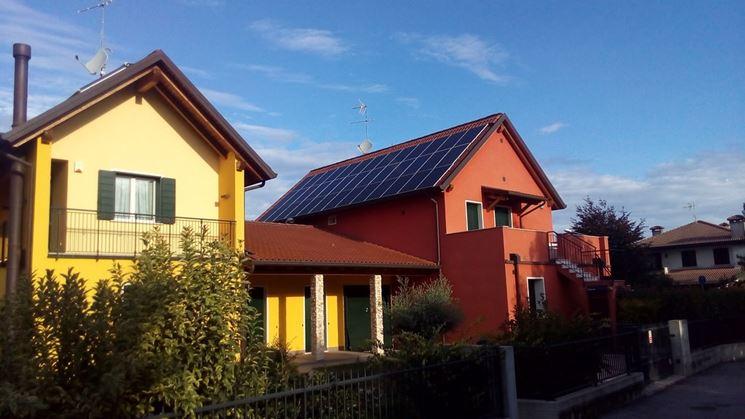Tetto pannello solare
