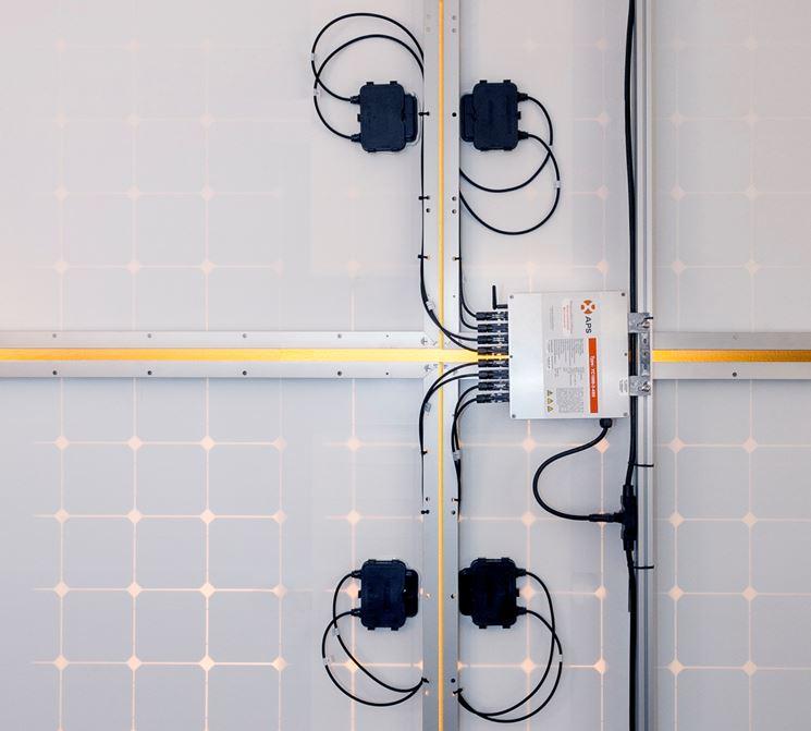 Microinverter collegati ai pannelli