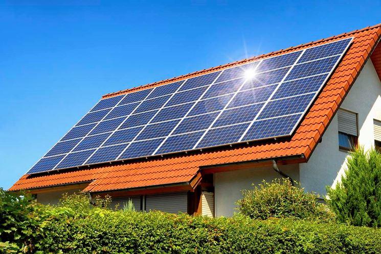 Impianto fotovoltaico di una casa