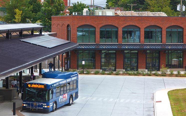 pensilina fotovoltaica per il bus