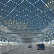 Un tunnel di pannelli fotovoltaici flessibili