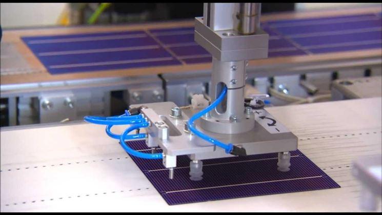 Realizzazione di pannelli fotovoltaici