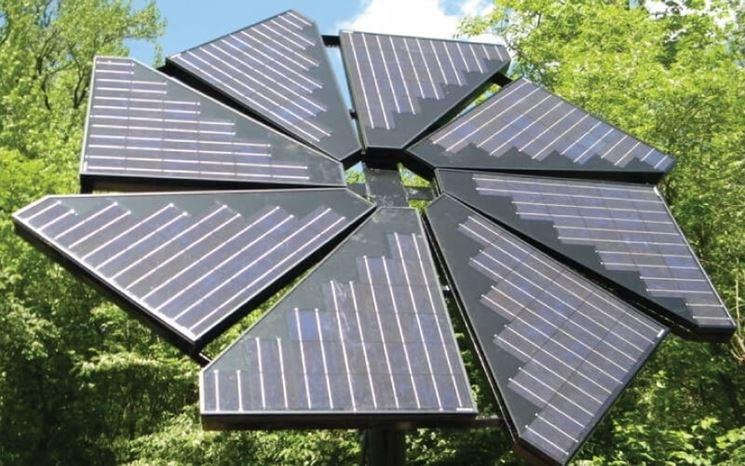 Un progetto fotovoltaico a forma di fiore