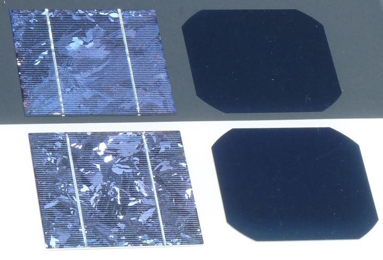 Confronto celle solari mono policristallino