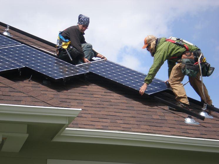 Montaggio impianto fotovoltaico