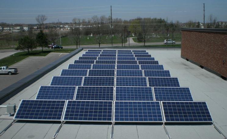 Fotovoltaico su tetto piano
