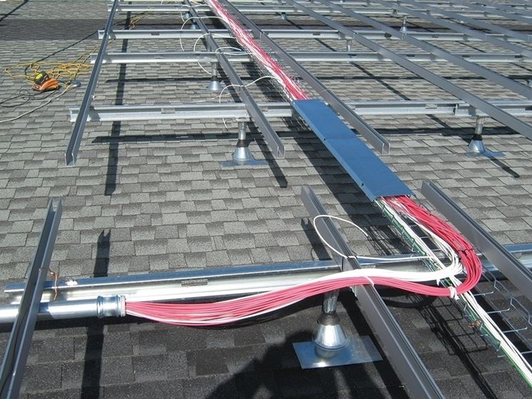 Posizionamento dei cavi fotovoltaici