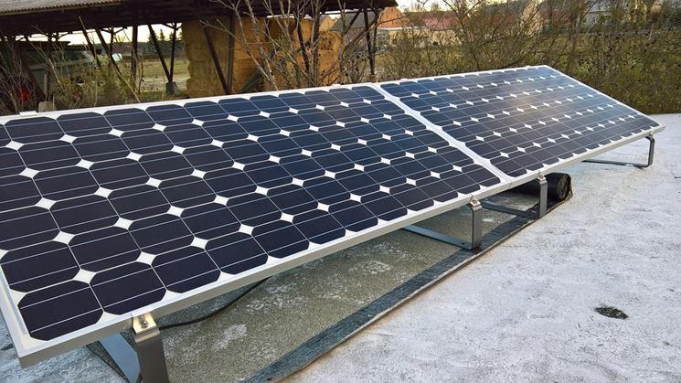 Fissaggio pannelli fotovoltaici su piano non inclinato