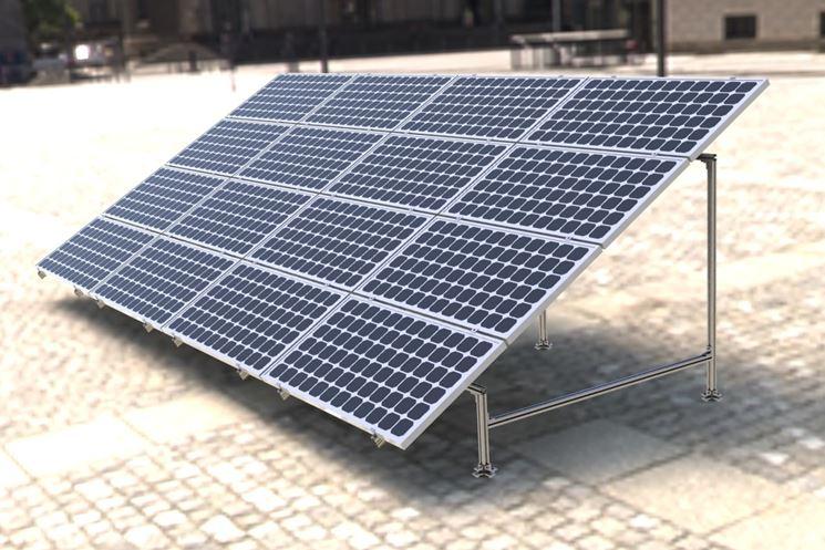 Sostegno pannello fotovoltaico