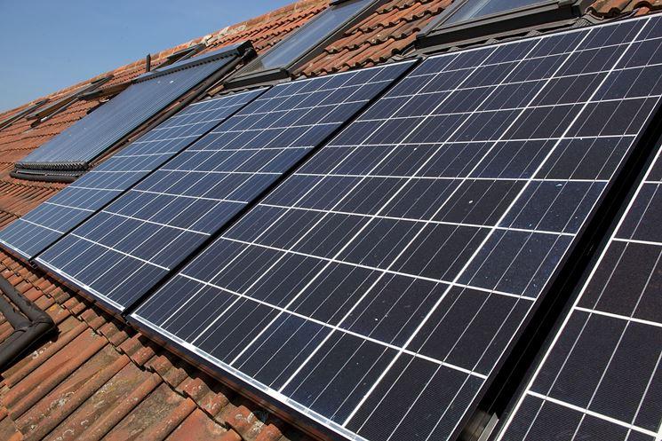Esempio di pannelli fotovoltaici