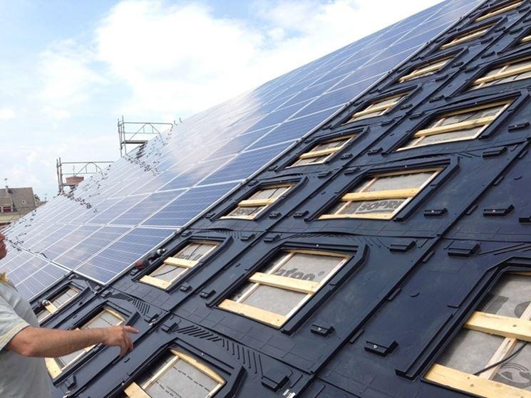 Pannello fotovoltaico tetto