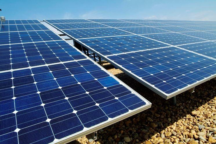 Schema dei pannelli fotovoltaici