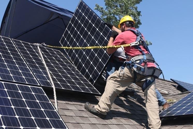 Montaggio fotovoltaico