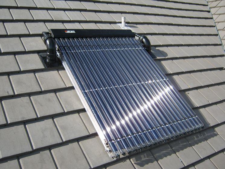 Pannello solare termico su tetto