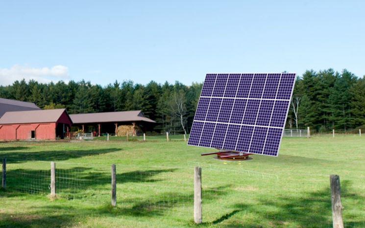 Rotore sorregge i pannelli solari e li orienta al sole