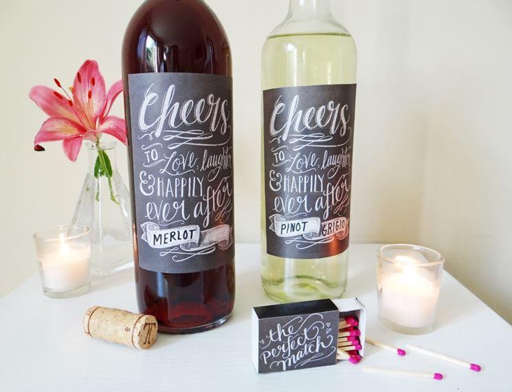 bottiglie da matrimonio