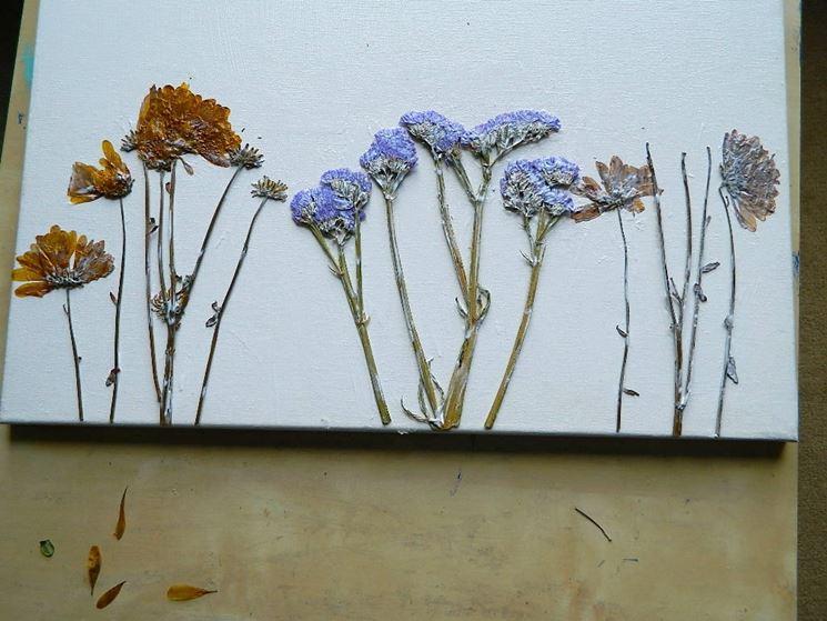 Fiori secchi per quadri