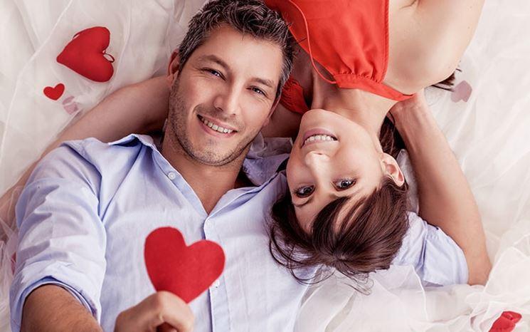 Una coppia felice a San Valentino