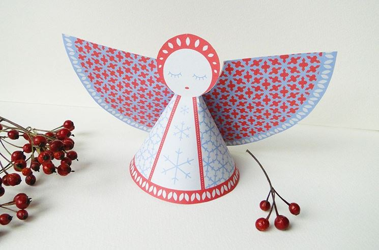 Angeli di carta come regali di Natale