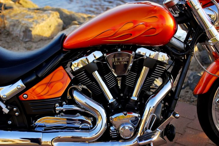 Primo piano motocicletta