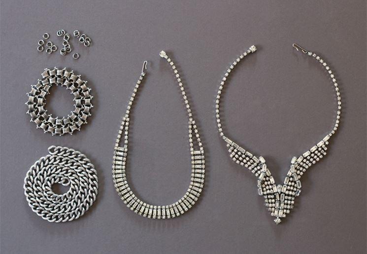 Alcune collane fai da te in argento
