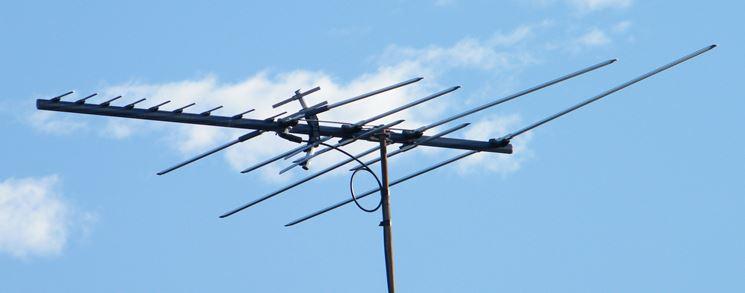 Un'antenna per la ricezione televisiva