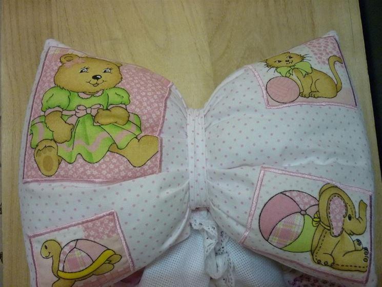 Fiocco nascita a cuscino