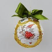 Pallina decorata con Babbo Natale