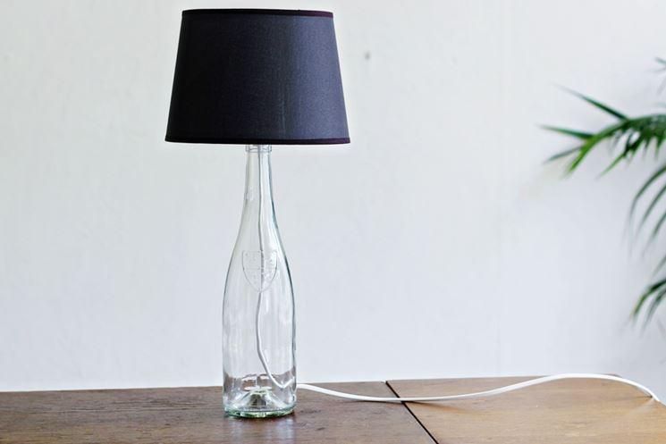 Lampada bottiglia di vetro
