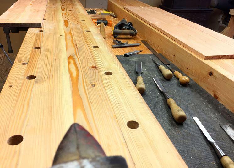 Banco da falegname lavorare il legno banco per falegname for Bancone in legno fai da te