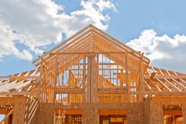Struttura edificio legno