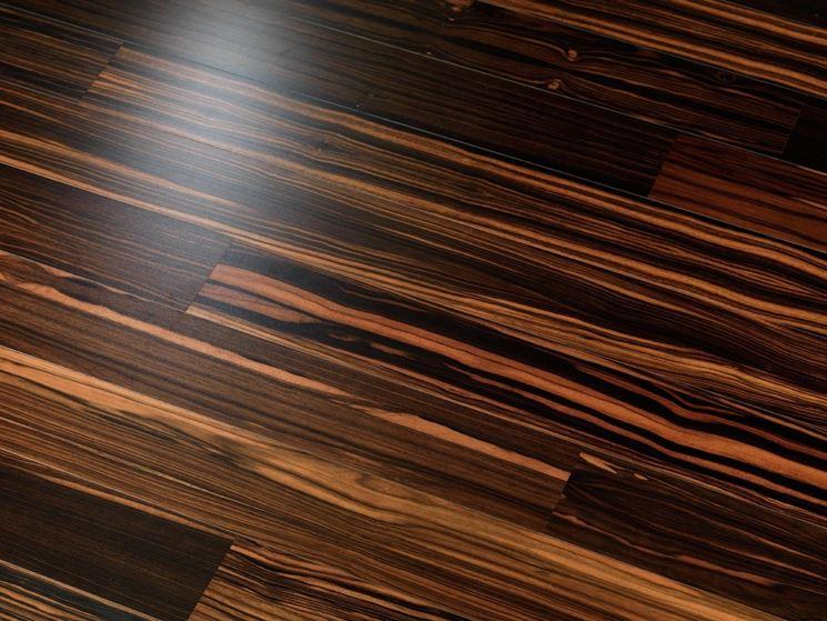 pavimento in ebano