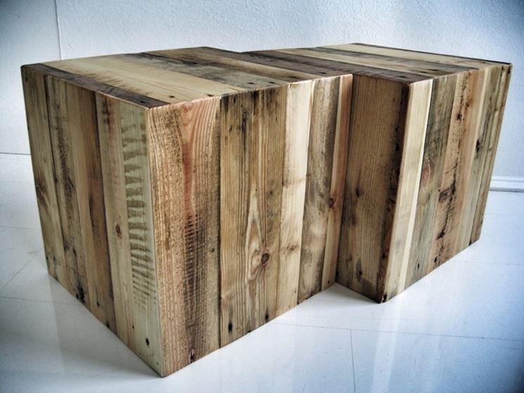 sedute in legno riciclato