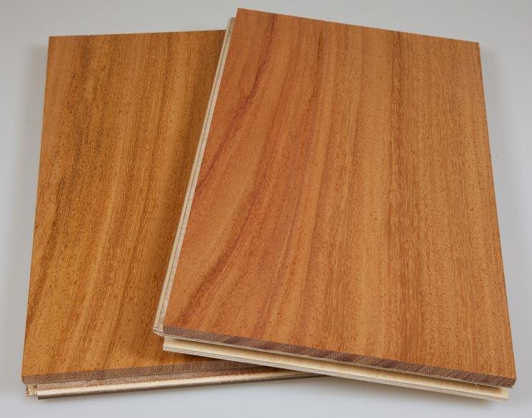 Pannelli di legno doussie