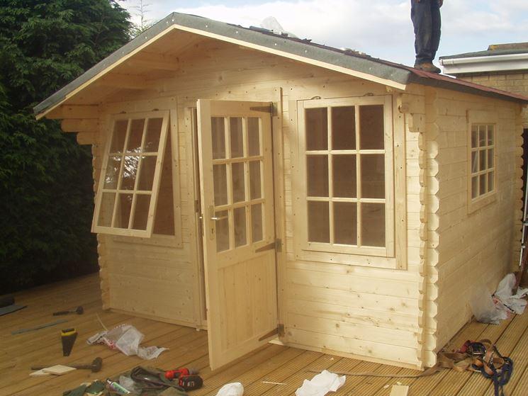 La realizzazione di un casetta in legno