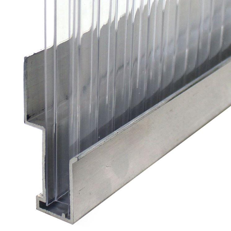Montaggio con profili di alluminio