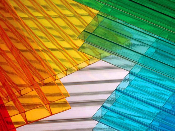 Lastre di policarbonato colorato